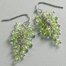 NEW Vera Wang Green Silver Tone Cluster Drop Earrings PRETTY FREE SHIPPING