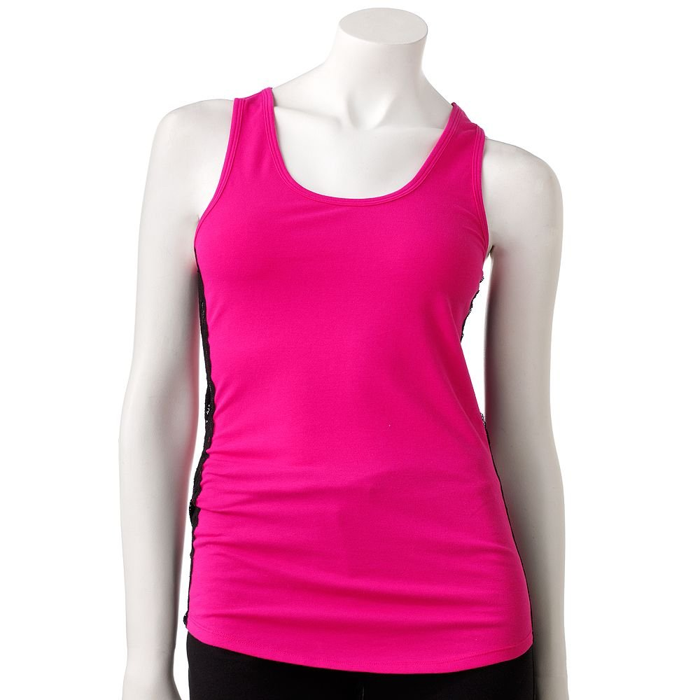 NEW Bright Pink Extra Large XL Spring Break Lace Lounge Sleep or Pajama Tank Top by SO $20