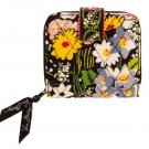 Vera Bradley Mini Zip Wallet Poppy Fields Billfold $27 NEW