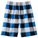 Mens Blue Sz. Large L Tony Hawk Plaid Check Mesh Gym Shorts NEW $36