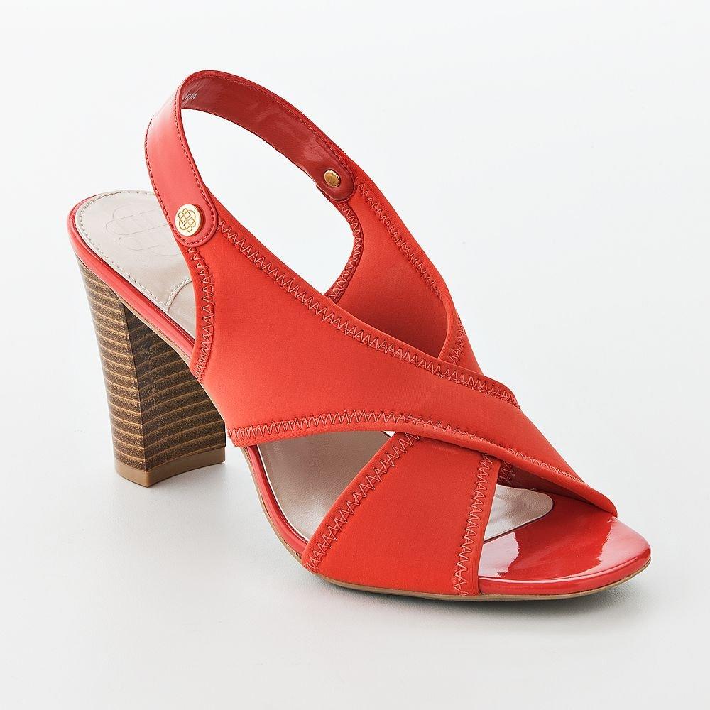 buchman womens dress sandals coral color shoes size 8