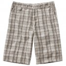 Mens Vans Plaid Flat Front Shorts Size 34 Tan NEW $44.00