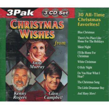 Christmas Wishes Holiday Music 3 CD Set Various Artists 30 Songs Kenny Rogers & MORE