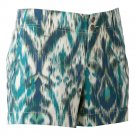 NEW Size 6 Womens IKAT Twill Shorts by Sonoma BLUE $34.00 NEW