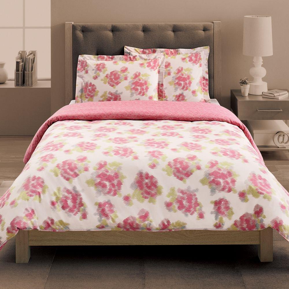 New Pink White Floral 3 Piece Twin Xl Comforter Duvet Set