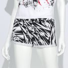 NEW Size 30 Juniors Black White Geometric Cuffed Jean Shortie Shorts by Authentic Icon $48.00 NEW