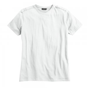 Marc Anthony Epaulet T-Shirt Tee White Sz Small S Young Mens NEW $32