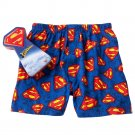 Superman Mens Boxers in a Tin Sz. Small Boxer Shorts Underwear NEW $20.00