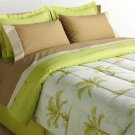 NEW The Big One Palm Trees Reversible Bed Set - Queen Size $150