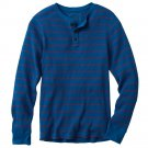 Urban Pipeline Size XXL or 2XL Blue Striped Henley Thermal Mens Shirt or Top Long Sleeve $32.00 NEW