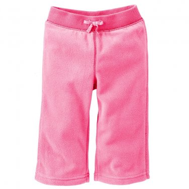 NEW Jumping Beans Solid Pink Microfleece Pants Baby Size 18 Months NEW