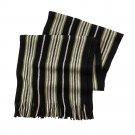 Mens Black & Green Van Heusen Raschel Stripe Knit Scarf NEW $32.00