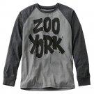 Mens Small or S Black Zoo York Painterrific Raglan Tee NEW $36.00