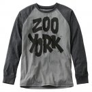 Mens Medium or M Black Zoo York Painterrific Raglan Tee NEW $36.00