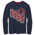 Arizona LS Tee T-Shirt - Graphic Navy Blue Thermal Long Sleeves Teens Boys 2XL 18-20 NEW