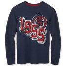 Arizona LS Tee T-Shirt - Graphic Navy Blue Thermal Long Sleeves Teens Boys 2XL 18-20 NEW