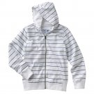 NEW Boys Striped Hoodie or Hooded Jacket by Urban Pipeline Sz Extra Large White Navy
