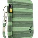 NEW Case Logic Compact Camera Case in Green Stripe Pattern $20