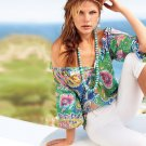 Chaps Small Womens Romantic Sportswear Paisley Peasant Blouse & Camisole Set NEW $70