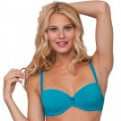 NEW 36B Turquoise Balconette Push Up Bra - Candies Brand $28.00