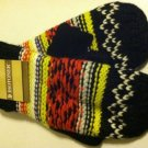 Isotoner Womens Mittens Fairisle Mittens OSFA Black & Multi NEW $28
