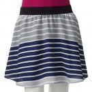 NEW Juniors Large L Striped Challis Skirt by SO Short Style Grays $30.00