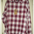 Mens Plaid Casual Button-Front Shirt or Top Dockers Extra Large XL RED NEW