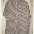 Mens Plaid Button-Front Shirt or Top Merona Extra Large XL NEW