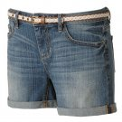 NEW Size 2 Womens Medium Wash Low Rise Cuffed Jeans Shorts by Lauren Conrad $44.00 NEW