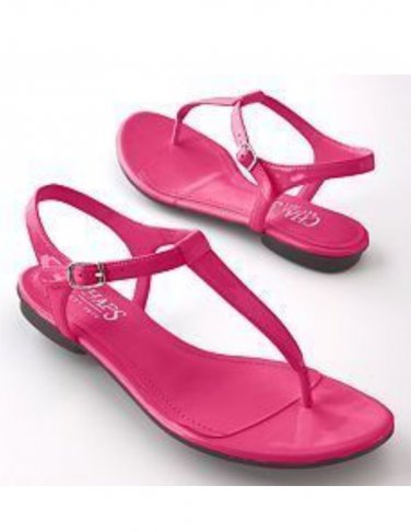 CHAPS GIBSON Womens Fuschia Sandals Shoes Size 8M NEW