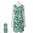 Womens Size XL Geometric Sheath Dress by Jennifer Lopez JLO Greens $60 NEW