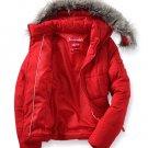 NEW Womens Puffer Jacket Coat Fur Hood Aeropostale Medium M RED Jrs $119.00
