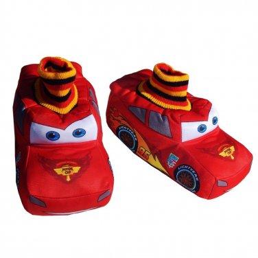 Disney Pixar Lightning McQueen Character Sock Top Kids Toddler Boys Slipper 5/6 NEW