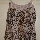 New JOCKEY Tactel Microfiber Leopard Animal Print Camisole Cami Medium M NWT $20