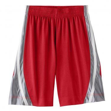 Tek Gear Stripe Dazzle Shorts Boys Sz. Size Extra Large XL RED NEW