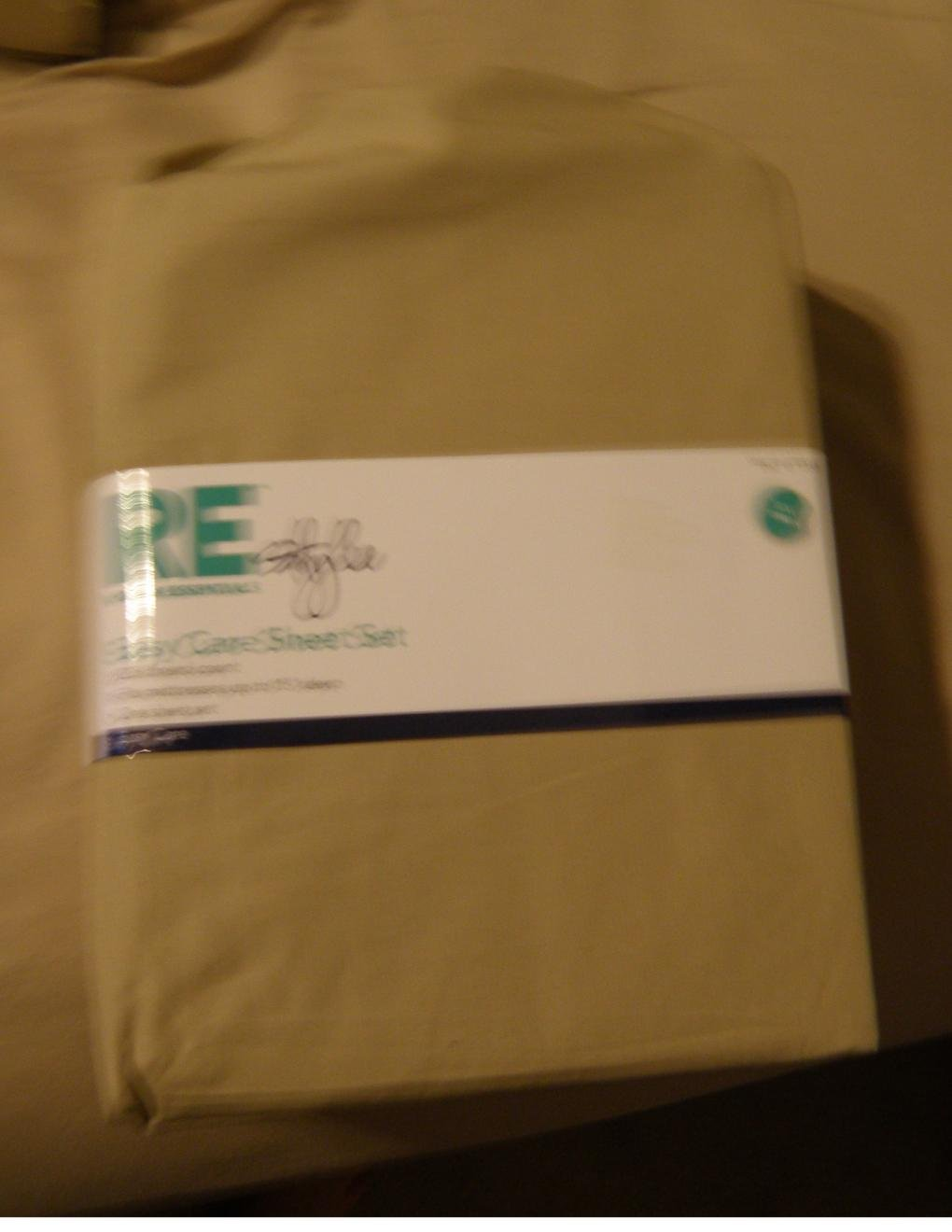 XL Twin SIZE Easy Care Sheet Set 225 Thread Count - 3 Pc. Twin Sheets Set Khaki NEW