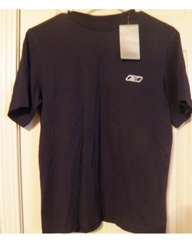 Reebok Boys T-Shirt T Shirt Top Navy Blue Medium NEW