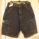 NEW Mens 30 Wrangler Denim Jean Cargo Shorts Heavy Weight Loose Fit