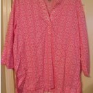 Womens Size Medium Pink Sequin Embellished Floral Tunic Top by White Stag NEW