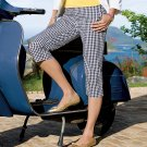 NWT Chaps Brand Womens Capris Capri Pants Sz. 14 Petite Checkered Poplin