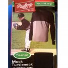 NEW RAWLINGS Youth LARGE Mock Turtleneck Long-Sleeve Undershirt Baseball Shirt