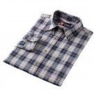 Mens Oxford Style Long Sleeve Shirt Button Down Blue Plaid Medium Chaps  NEW