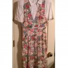 Vintage RJ Stevens by Carol Escritor 2 Pc Dress Set Short Sleeves Floral Garden Style Design
