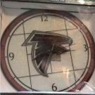 NOS NFL Art-Glass Clock - Atlanta Falcons - NFL-AFA-274 - The Memory Company