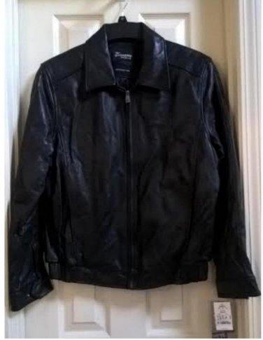 NEW Men's Small S Dockers New Zealand Lamb Leather Open-Bottom Jacket Coat