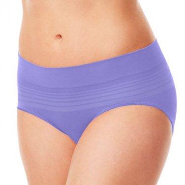 NEW RU0501P Warners No Pinching Problems Seamless Striped Hipster Panties Purple M/6