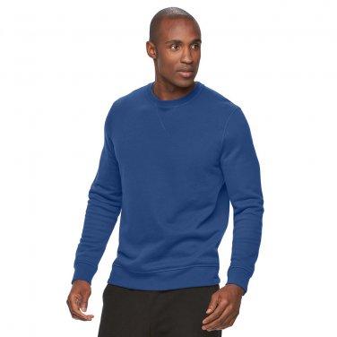 Mens Small or S Tek Gear Fleece Crew Sweatshirt Long Sleeves Blue Surge