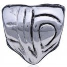 NEW PUGSTER Silver Tone Austrian Silver Plated Heart European Style Bead NEW