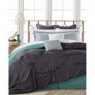 NEW Charcoal Gray & Mint 8-Pc. Queen Comforter Set by Mytex Sutton $260