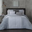 NEW 6 Piece Gray Talia Comforter Set by Steve Madden Queen Size $180